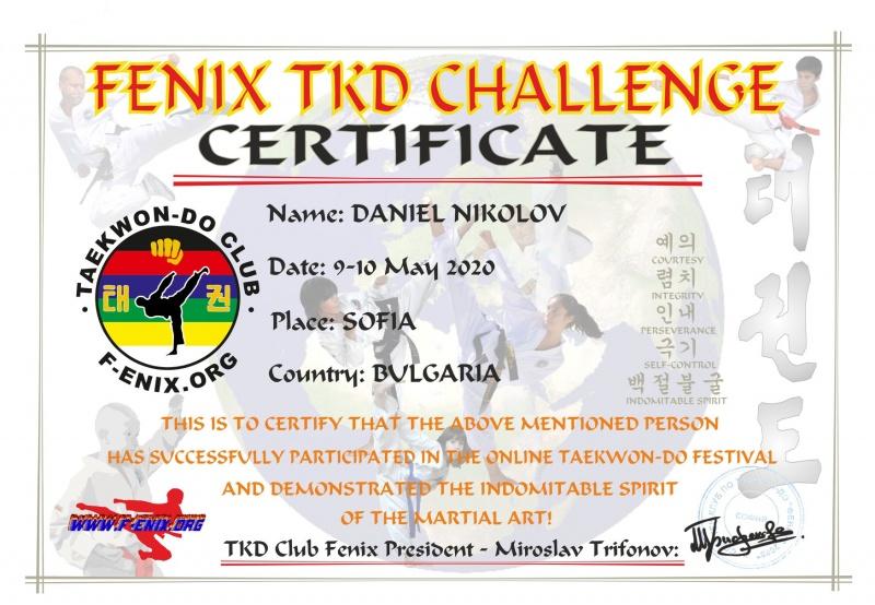 """FENIX TKD CHALLENGE 2020″ FESTIVAL"
